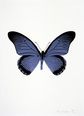 The Souls IV - Cornflower Blue/Raven Black, by Damien Hirst