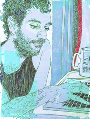 Ben at Home 1, by Hope Gangloff
