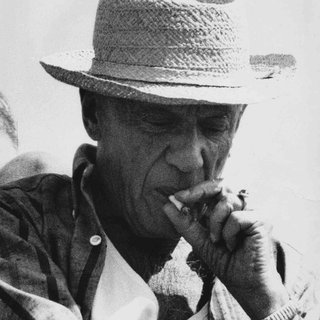 Pablo Picasso Portrait, Smoking a Cigarette art for sale
