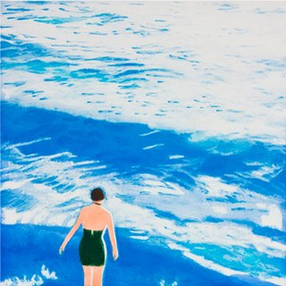 Wading I (Blue) art for sale