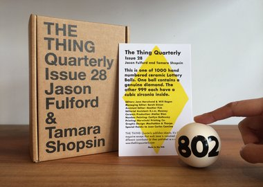 Jason Fulford & Tamara Shopsin - Issue 28: Ceramic Lottery Ball