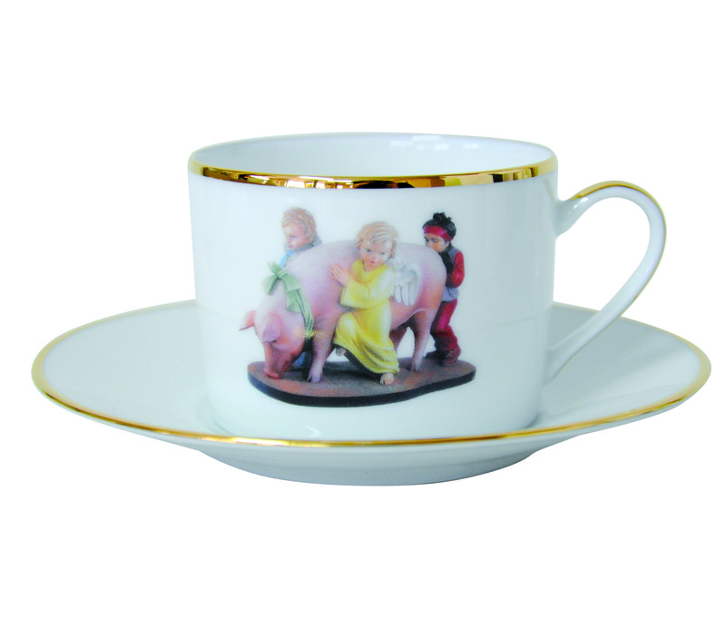 jeff koons ushering in banality banality series 5 piece place setting for sale artspace. Black Bedroom Furniture Sets. Home Design Ideas