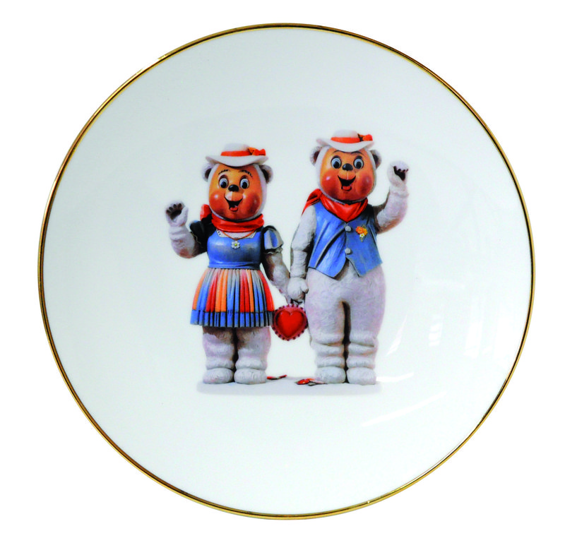 Jeff koons winter bears banality series 5 piece place for Jeff koons banality