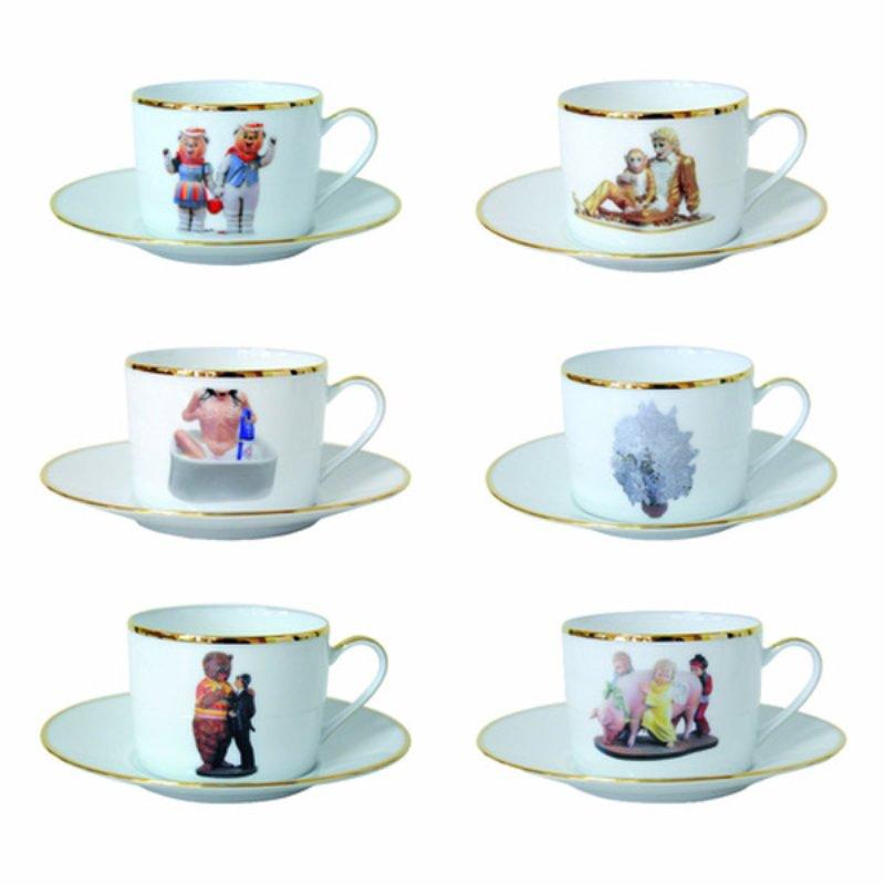 jeff koons banality series tea cup saucer set for sale artspace. Black Bedroom Furniture Sets. Home Design Ideas