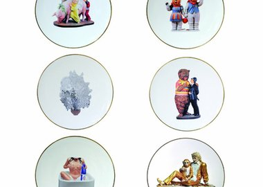 Jeff Koons - Coupe bread & butter plate, Banality series, set of 6