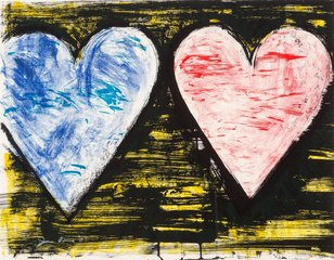 Two Hearts at Sunset, by Jim Dine