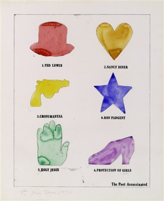 Jim Dine, The Poet Assassinated