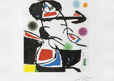 Joan Miró - Montagnards III (Les) (Catalogue raisonné, Dupin 1229)