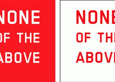 John Armleder - None of the Above