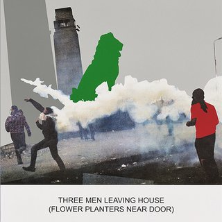 The News: Three Men Leaving House... art for sale