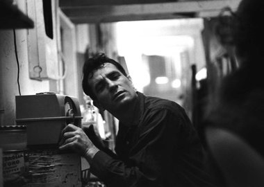 John Cohen - Jack Kerouac Listening to Himself on the Radio