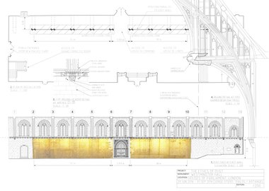 Jorge Otero-Pailos - The Ethics of Dust, Westminster Hall, Preparatory Drawing