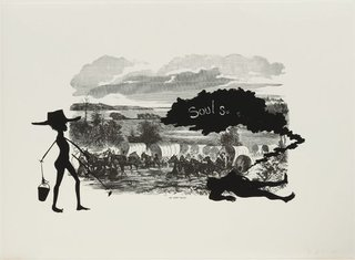 An army train, by Kara Walker