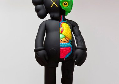 KAWS  - Four Foot Dissected Companion (Black)