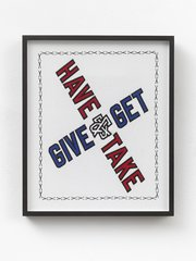 Give & Get, by Lawrence Weiner
