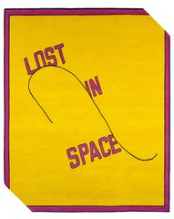 Lost in space, by Lawrence Weiner