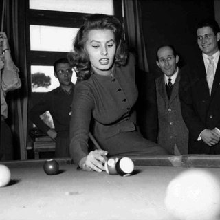 Sophia Loren Hustles the Boys in Billiards art for sale