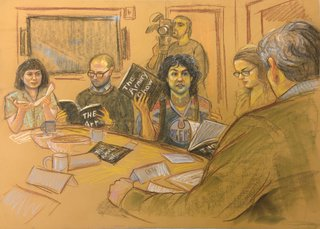 The Armory Show Focus Group (Sketch #1), by Liz Magic Laser
