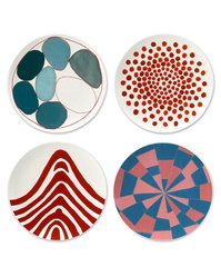 Set of 4 Fine Bone China Plates, by Louise Bourgeois