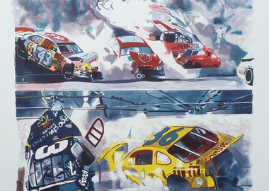 Malcolm Morley - Death of Dale Earnhardt, The Art of Printing