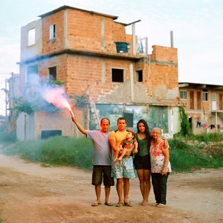 Bruno with his father and grandmother, his wife and his son, Favela Vila Autódromo, Rio de Janeiro 2015 art for sale