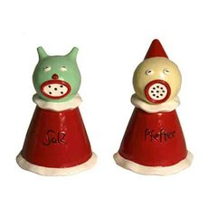 Sea Salt & Jester Pepper Shakers, by Marcel Dzama