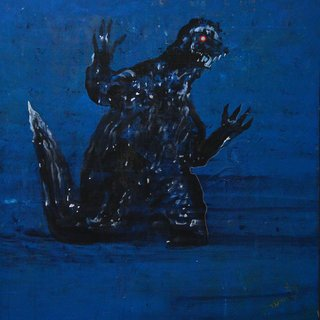 Godzilla art for sale