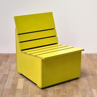 Mary Heilmann, Sunny Chair for Whitechapel (chartreuse)