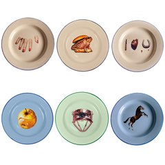 Plate Sets, by Maurizio Cattelan