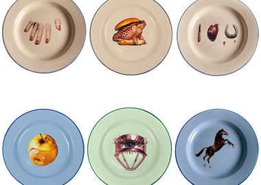 Maurizio Cattelan - Plate Sets