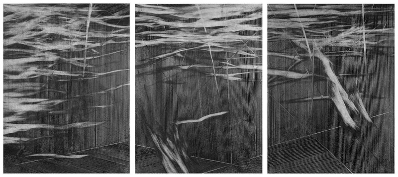 Mauro Giaconi's triptych Lo que parece justo, available on Artspace for $2,500
