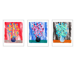 bloemen pink, bloemen green, bloemen violet art for sale
