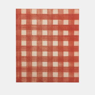 Warm Red Gingham art for sale