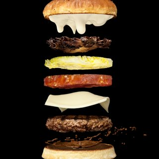 Levitating Hamburger art for sale