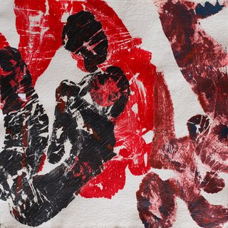 red composition art for sale