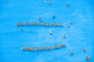 Adriatic Sea (Staged) Dancing People 14, by Olivo Barbieri