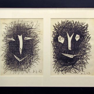 Deux Masques, by Pablo Picasso