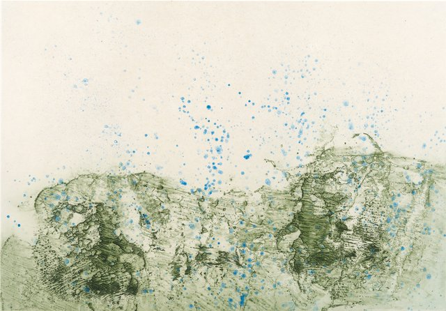 Pat Steir - Mountain in Rain, Print