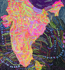 India, by Paula Scher