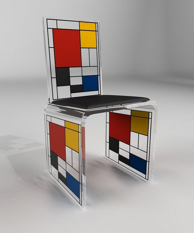 Piet Mondrian Chair For Sale Artspace