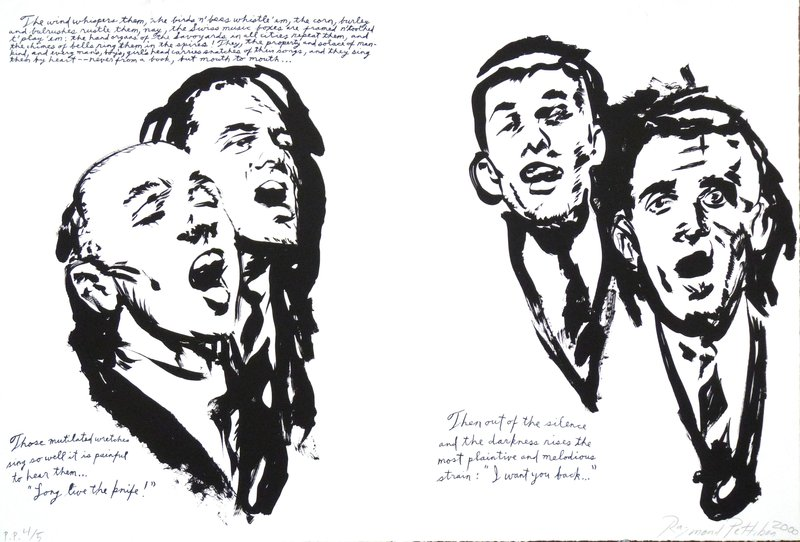 Raymond Pettibon, Then Out of The Silence…