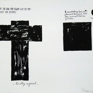 Raymond Pettibon, At The End One Always Gets…