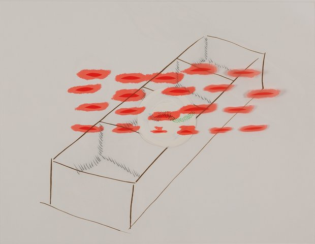 Richard Tuttle - homesick as a nail, Print