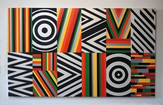 Untitled (Target, Ripples and Zig Zags), by Rico Gatson