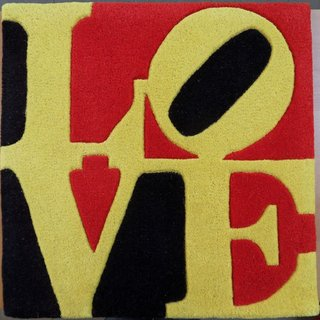 Liebe LOVE (Red, Yellow and Black) art for sale