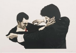 Frank and Glenn Fighting, by Robert Longo