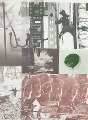American Pewter with Burroughs II, by Robert Rauschenberg