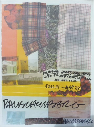 Robert Rauschenberg - Richard Hines Gallery, Seattle, Print