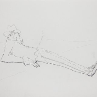 Reclining Man, Smoking art for sale
