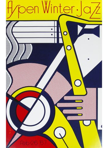 Roy Lichtenstein - Aspen Winter Jazz Poster, Print